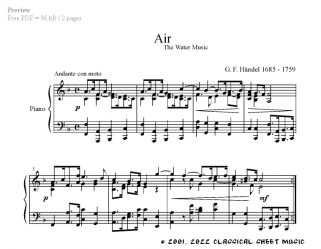 Free-sheet-music for Piano by Händel Page 1 of 3 pages