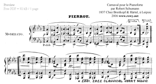 Free-sheet-music for Piano by Schumann Page 2 of 6 pages