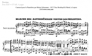 Free-sheet-music for Piano by Schumann Page 5 of 6 pages