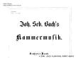 Thumb image for BG Kammermusik VI Vorwort und Inhalt