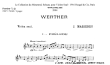 Thumb image for Werther Prelude