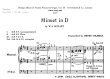 Thumb image for Minuet in D Major